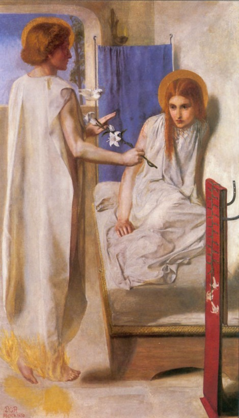 Annunciation by Dante Rossetti