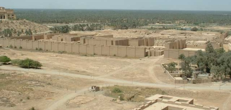 Ruins of ancient Babylon in the Middle East