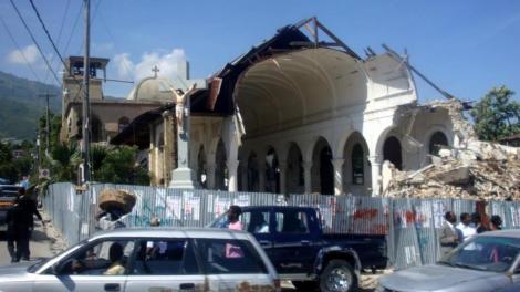 damaged church after Haitian earthquake