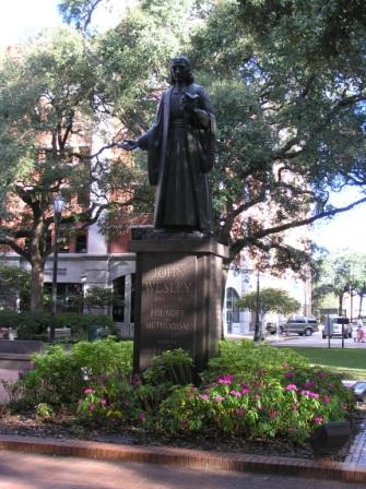 John Weley statue in Savannah, Georgia