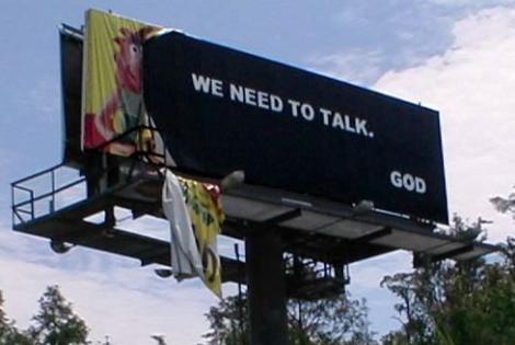 We need to talk billboard