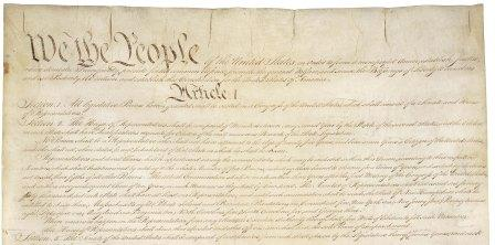 The opening paragraphs of the American Constitution
