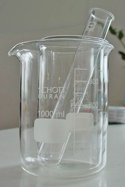 beaker and test tube