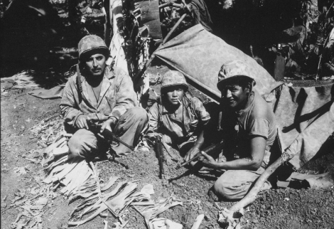 Navajo Code Talkers on Saipan 750