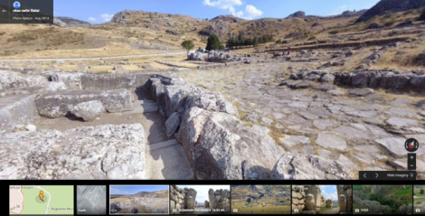 Panorama photo of Hittite capital, Hattusa