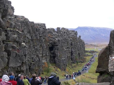 Ridge in Thingvellir National Park, Iceland