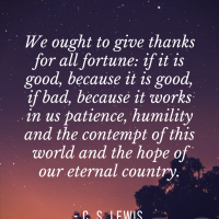 C. S. Lewis on Thanksgiving